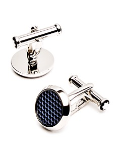 Montblanc Lacquer Inlay Round Cufflinks - Bloomingdale's_0