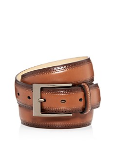 The Men's Store at Bloomingdale's - Wing Tip Burnished Leather Belt - 100% Exclusive