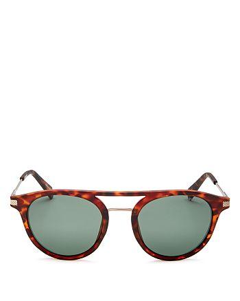 Polaroid - Men's Polarized Brow Bar Round Sunglasses, 50mm