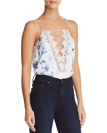 CAMI NYC - Charlie Reversible Lace-Up Silk Top