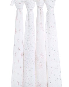 Aden and Anais - Lovely Reverie Classic Swaddles, 4 Pack