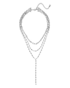 Aimee Y Choker Necklace, 12, Silver