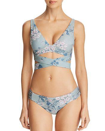 BECCA® by Rebecca Virtue - Serene Wrap Bikini Top & Shirred Side Bikini Bottom