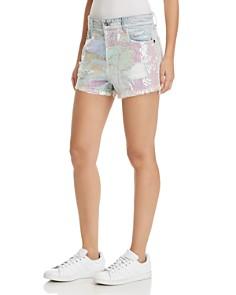 Sunset & Spring - Nova Sequined Denim Shorts in Mermaida - 100% Exclusive