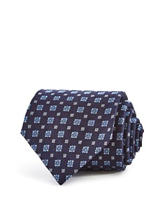 Turnbull & Asser Floral Geometric Squares Classic Tie - Bloomingdale's_0