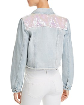 Sunset & Spring - Sequined Denim Jacket - 100% Exclusive