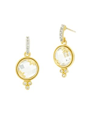 Freida Rothman Fleur Bloom Mini Faceted Drop Earrings