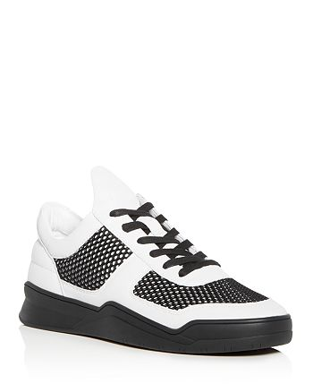 KARL LAGERFELD Paris - Men's Leather Lace Up Sneakers