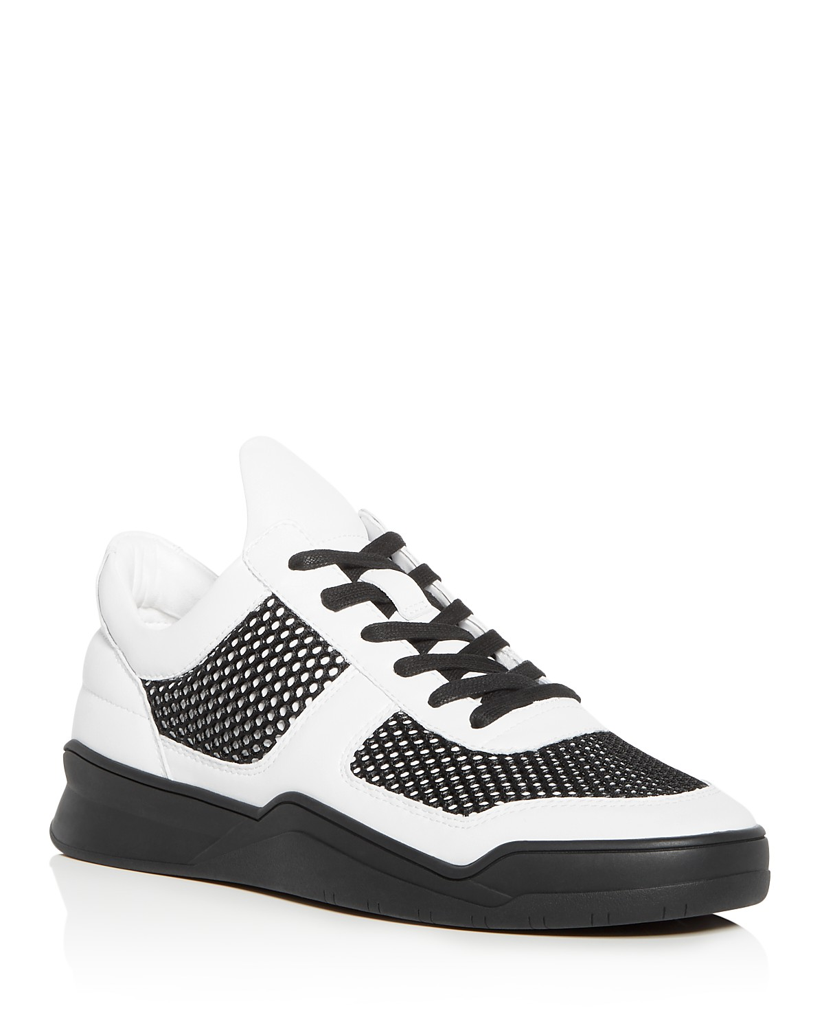 Karl Lagerfeld Men's Leather Lace Up Sneakers iVK7yKZip0