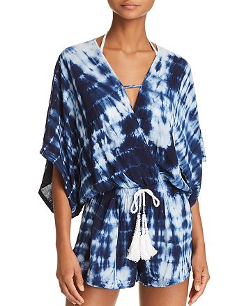 Surf Gypsy - Tie-Dye Romper Swim Cover-Up