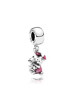 PANDORA Sterling Silver & Enamel Disney Piglet Drop Charm - Bloomingdale's_0