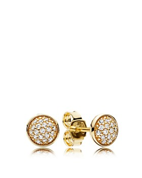Pandora 14k Gold Cubic Zirconia Dazzling Droplet Earrings