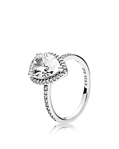 PANDORA Sterling Silver & Cubic Zirconia Radiant Teardrop Statement Ring - Bloomingdale's_0