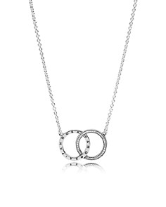 PANDORA Sterling Silver & Cubic Zirconia Circles Necklace - Bloomingdale's_0