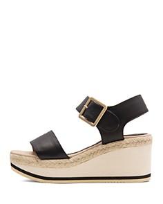 Andre Assous - Women's Carmela Leather Platform Wedge Sandals