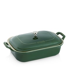 """Staub - 12"""" x 8"""" Rectangular Covered Ceramic Baking Dish"""