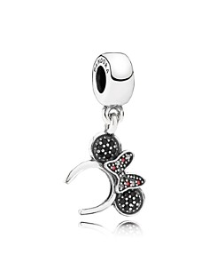 PANDORA Sterling Silver Disney Minnie Headband Drop Charm - Bloomingdale's_0