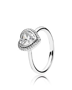 PANDORA Sterling Silver & Cubic Zirconia Sparkling Love Heart Statement Ring - Bloomingdale's_0