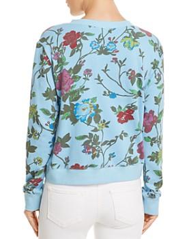 PAM & GELA - Floral Print Crossover Sweatshirt