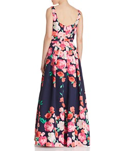 Eliza J - Floral Belted Ball Gown