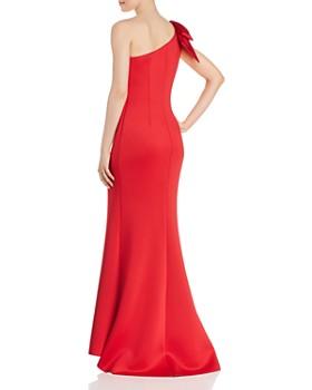AQUA - One-Shoulder Scuba Crepe Gown - 100% Exclusive