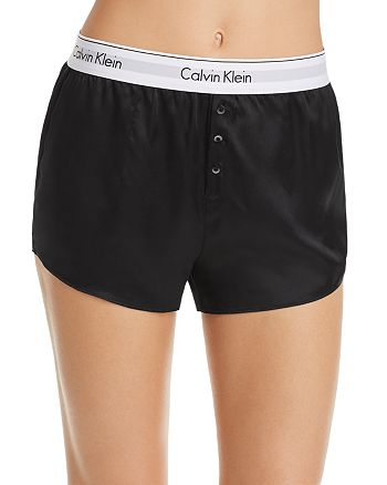 Calvin Klein - CK Black Silk Sleep Shorts