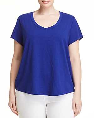 Eileen Fisher Plus V-Neck Slub Tee