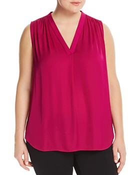 VINCE CAMUTO Plus - Shirred Satin Top