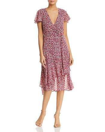 c31539a5c1 MICHAEL Michael Kors - Micro-Floral Ruffled Wrap Dress
