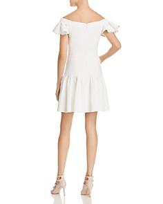 Rebecca Taylor - Off-the-Shoulder Textured Mini Dress