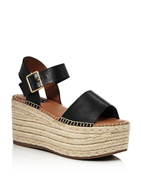 AQUA - Women's Rowan Leather Espadrille Platform Sandals - 100% Exclusive