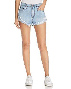 Nobody Boho Denim Shorts in Blessed