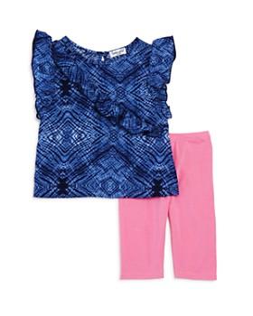 Splendid - Girls' Tie-Dyed Ruffle Top & Leggings Set - Baby