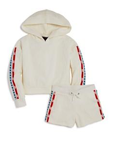 Juicy Couture Black Label Girls' Logo-Textured Hoodie & Shorts - Big Kid - Bloomingdale's_0