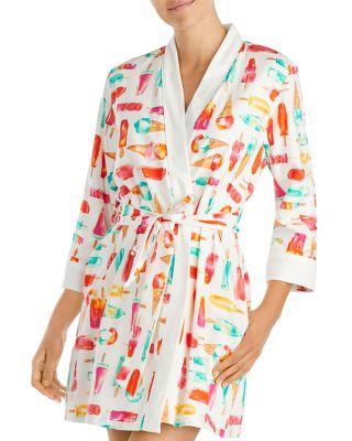 $kate spade new york Popsicle Short Robe - Bloomingdale's