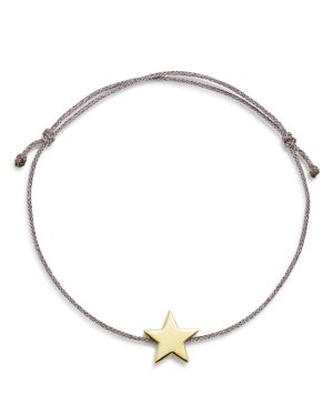 SUEL 14K YELLOW GOLD STAR CORD BRACELET