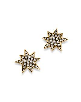 SUEL - Blackened 18K Yellow Gold Big Bang Diamond Earrings