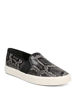 Vince - Women's Blair-5 Snake-Print Leather Slip-On Sneakers