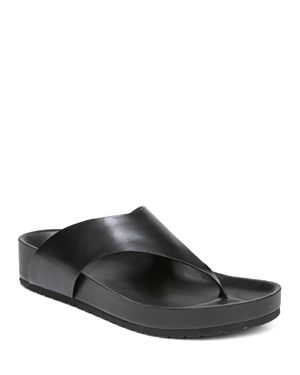 Women'S Padma Leather Thong Sandals, Black