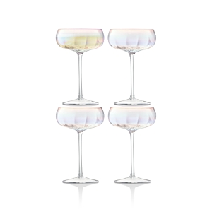 Lsa International Pearl Champagne Saucer, Set of 4