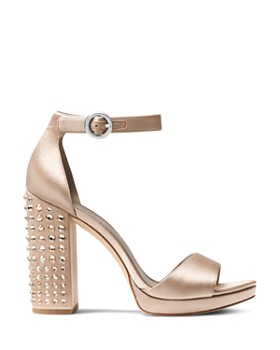 MICHAEL Michael Kors - Women's Erika Studded Satin Ankle Strap Sandals