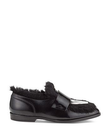 Jimmy Choo - Men's Tedi Leather & Rabbit Fur Loafers