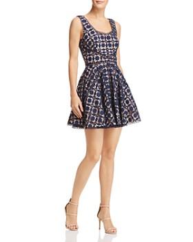 SAU LEE - Luna Lace Mini Dress