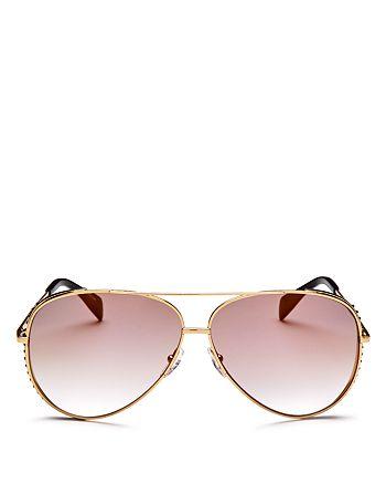 ef5f2ebb95831 Moschino - Women s 007 Mirrored Aviator Sunglasses