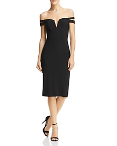 AQUA - Off-the-Shoulder Cocktail Dress - 100% Exclusive