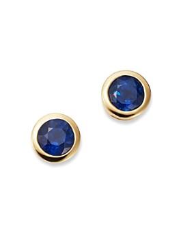 Bloomingdale's - Sapphire Bezel Stud Earrings in 14K Yellow Gold - 100% Exclusive