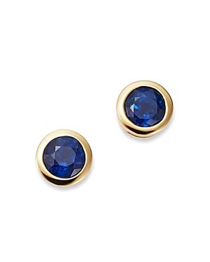 Bloomingdale\\\'s Sapphire Bezel Stud Earrings in 14K Yellow Gold - 100% Exclusive-Jewelry & Accessories