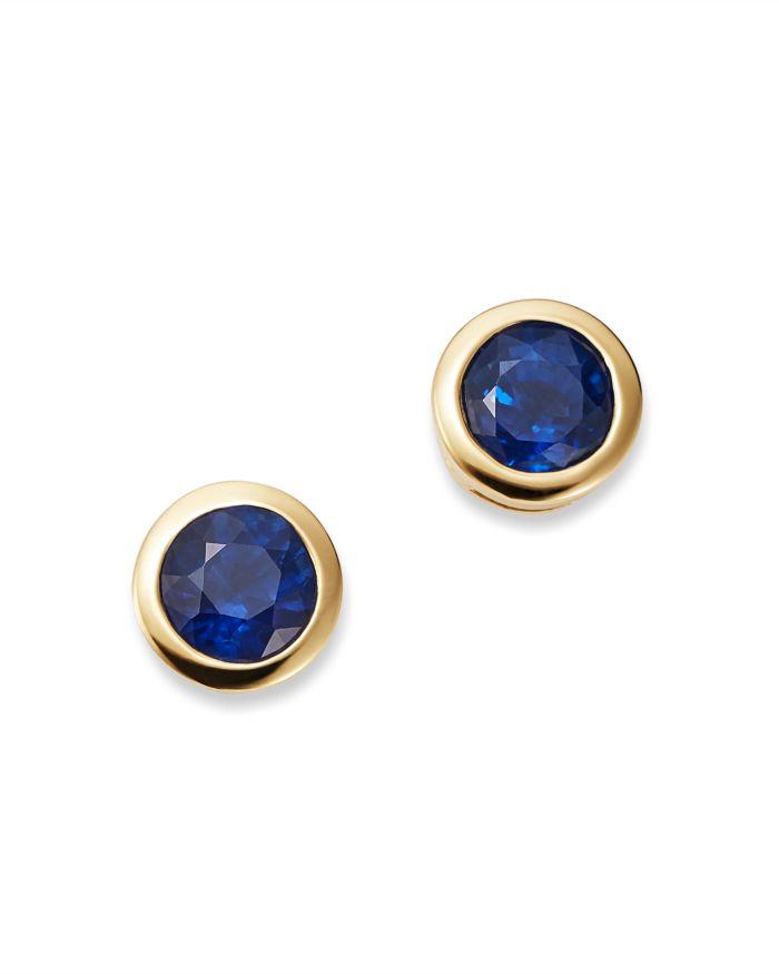Bloomingdale's Sapphire Bezel Stud Earrings in 14K Yellow Gold - 100% Exclusive   | Bloomingdale's