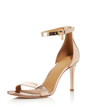 25847701cb2b Tory Burch - Women s Ellie Leather High-Heel Ankle Strap Sandals ...