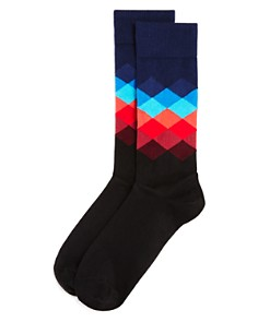 Happy Socks Faded Diamond Socks - Bloomingdale's_0